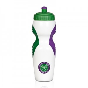Wimbledon Plastic Sports Water Bottle – White (750ml)