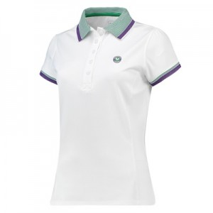 Wimbledon Performance Polo – White – Ladies
