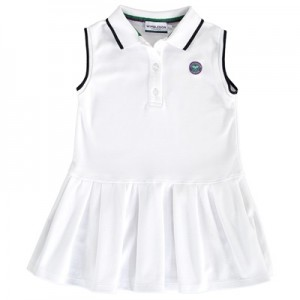 Wimbledon Polo Dress – White – Junior White