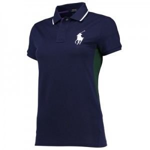 Wimbledon Ralph Lauren Ball Girl Pique Polo – French Navy – Ladies Nav