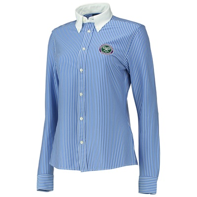 Wimbledon Ralph Lauren LS Umpire Shirt – Regal Blue/White – Ladies