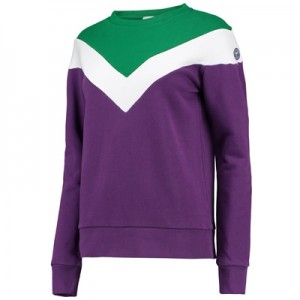 Wimbledon Block Colour Sweater- Purple/Green – Ladies