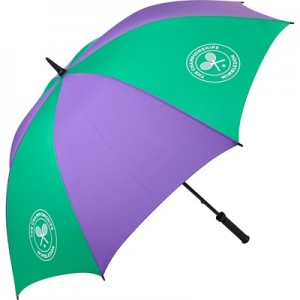 Wimbledon Golf Umbrella – Green/Purple