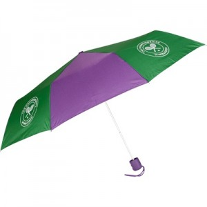 Wimbledon Telescopic Umbrella – Green/Purple