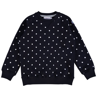 Wimbledon Ball Spot Sweater – Midnight/White – Junior