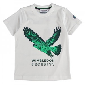 Wimbledon Hawk T-Shirt – White – Junior