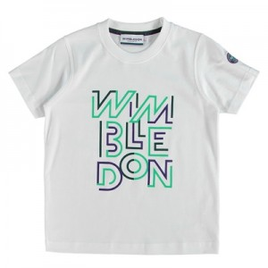 Wimbledon Print T-Shirt – White – Junior