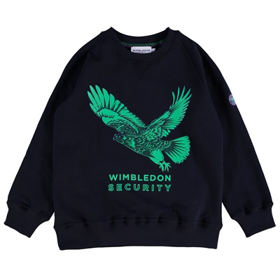 Wimbledon Hawk Print Sweatshirt – Midnight – Junior
