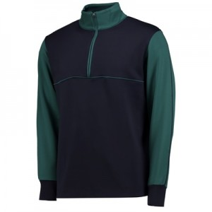 Wimbledon Contrast Panel Technical Top – Midnight/Deep Green