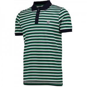 Wimbledon Contrast Stripe Polo Shirt – Midnight/Amazon