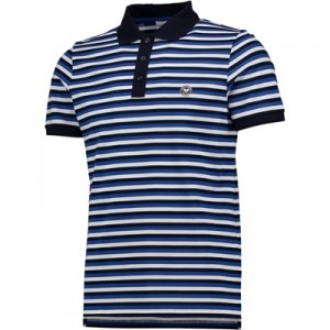 Wimbledon Contrast Stripe Polo Shirt – Midnight/Amparo