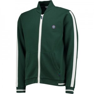 Wimbledon Zip Through Sweatshirt – Deep Green