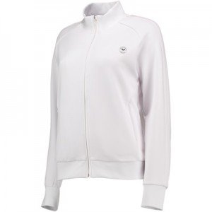 Wimbledon Technical Zip Through Top – White – Ladies