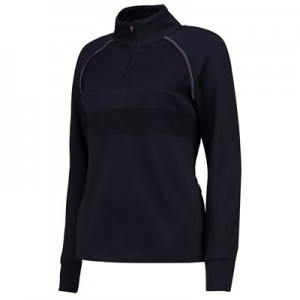 Wimbledon 1/2 zip  Technical Top – Midnight – Ladies