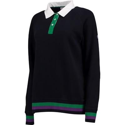 Wimbledon Collared Sweatshirt – Midnight – Ladies