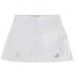 Wimbledon Babolat Performance Skirt – White – Junior