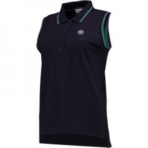 Wimbledon Sleeveless Pique Polo Shirt – Midnight – Ladies