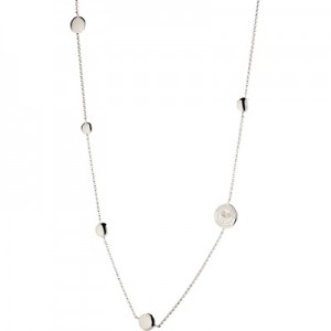 Wimbledon Long Necklace with Discs