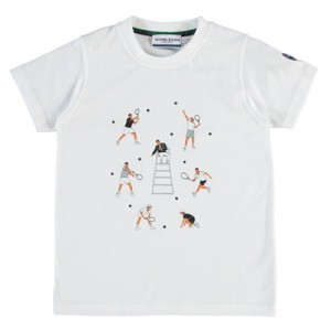 Wimbledon Player T-Shirt – White – Boys