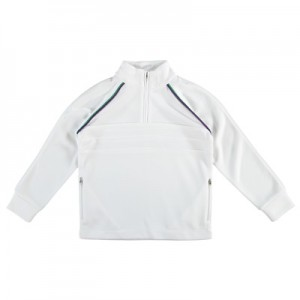 Wimbledon Pullover – White – Girls
