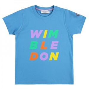 Wimbledon T-Shirt – Azure Blue – Girls