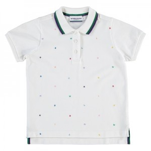 Wimbledon Letters Polo – White – Girls