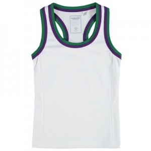 Wimbledon Tank Top – White – Girls