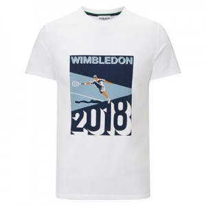 Wimbledon Dated 2018 Graphic T-Shirt – White