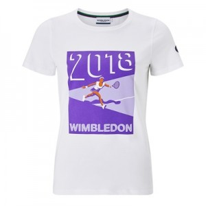 Wimbledon Dated 2018 Graphic T-Shirt – Ladies – White