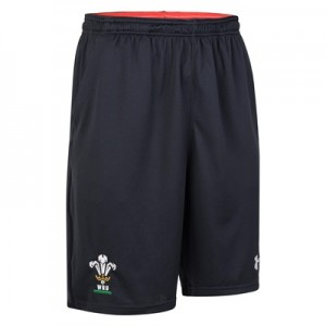 """Welsh Rugby 9in Training Shorts – Anthracite – Mens"""