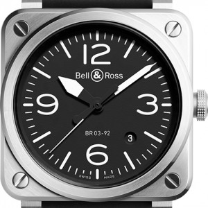 Bell & Ross Aviation Instruments BR0392-BLC-ST