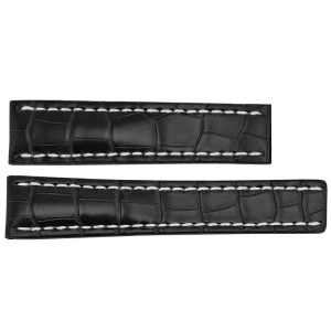 Breitling 16mm Black Crocodile Strap 780P