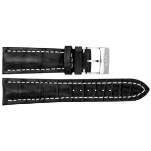 Breitling 22mm Black Crocodile Strap 743P