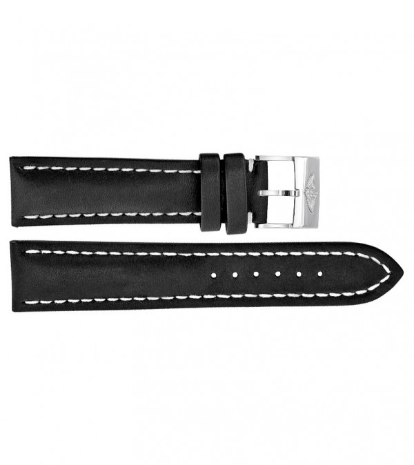Breitling 20mm Black Leather Strap 428X