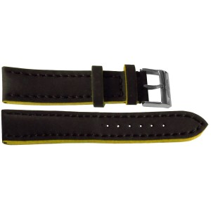 Breitling 22mm Black Leather Strap 229X