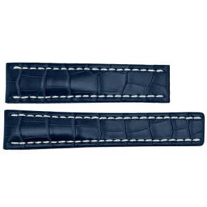 Breitling 20mm Blue Crocodile Strap 719P