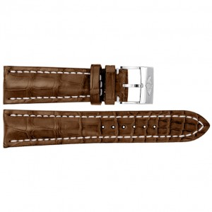 Breitling 20mm Brown Crocodile Strap 724P