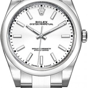 Rolex Oyster Perpetual 39 White Dial Men's Watch 114300