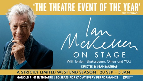 Ian McKellen on Stage at The Harold Pinter Theatre