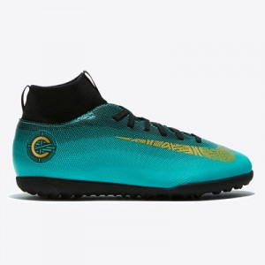 Nike Mercurial SuperflyX 6 Club CR7 Astroturf Trainers - Green - Kids