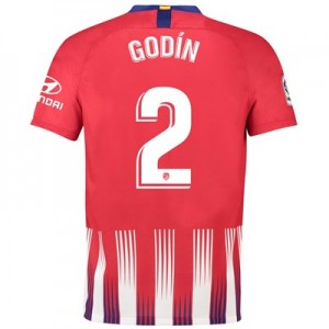 Atlético de Madrid Home Stadium Shirt 2018-19 with Godín 2 printing