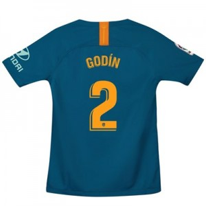 Atlético de Madrid Third Stadium Shirt 2018-19 - Kids with Godín 2 printing