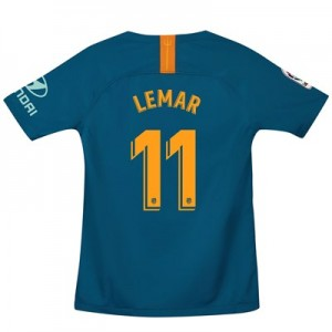 Atlético de Madrid Third Stadium Shirt 2018-19 - Kids with Lemar 11 printing