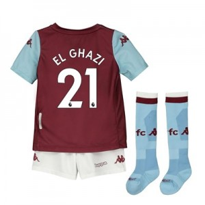 Aston Villa Home Minikit 2019-20 with El Ghazi 21 printing