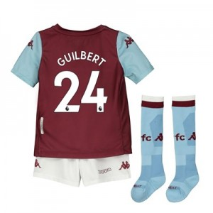 Aston Villa Home Minikit 2019-20 with Guilbert 24 printing