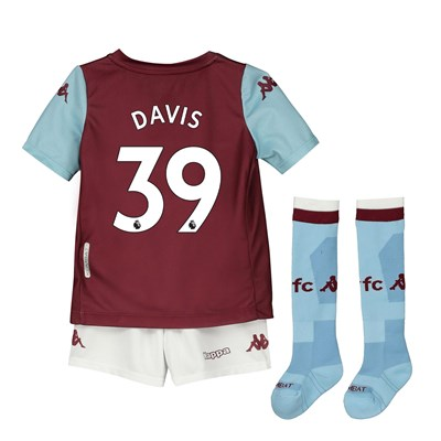 Aston Villa Home Minikit 2019-20 with Davis 39 printing