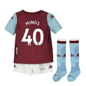 Aston Villa Home Minikit 2019-20 with Mings 40 printing