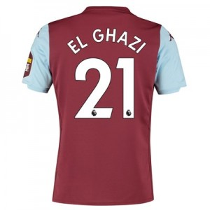 Aston Villa Home Shirt 2019-20 with El Ghazi 21 printing