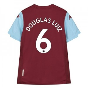 Aston Villa Home Shirt 2019-20 - Kids with Douglas Luiz 6 printing