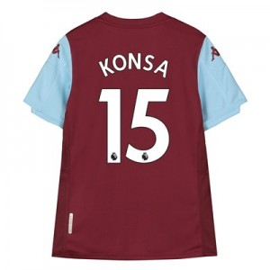Aston Villa Home Shirt 2019-20 - Kids with Konsa 15 printing